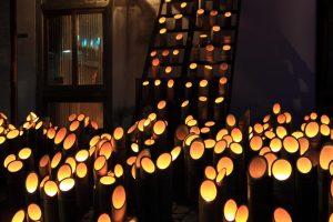 広島県竹原市のライトアップ